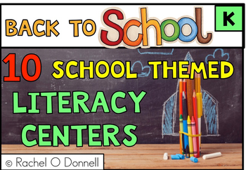 Free Back to School September Literacy Center Kindergarten