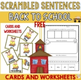 Free Back to school activity - Scrambled sentences