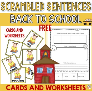 Free Back to school activity - Scrambled sentences