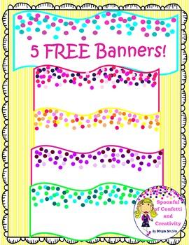 Free Banners!  {Confetti and Creativity Clip Art}