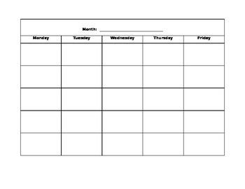 Free Basic Calendar Template