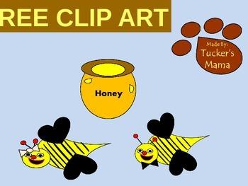 Free Bee and Honey Clip Art