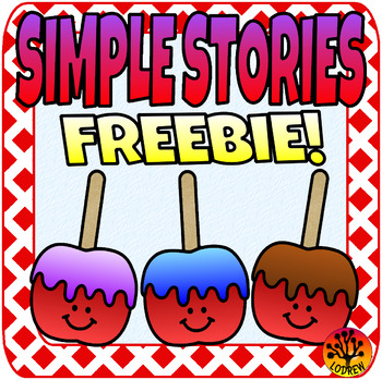 Free Beginner Reader Simple Story Autumn Fall Candy Apples