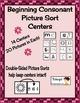 Free Beginning Consonant Picture Sorting Centers Sample Li