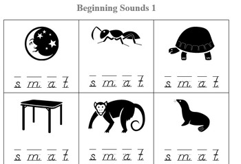 Free Beginning Sound Worksheet - Preview