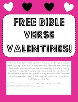 Free Bible Verse Valentines
