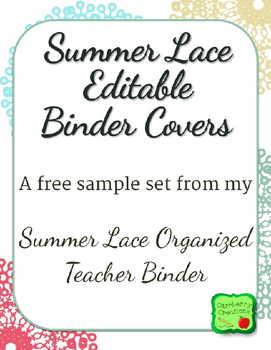Free Binder Covers: Lacy Beach Colors