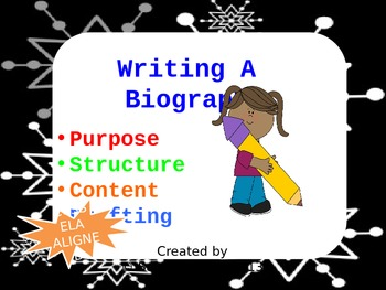 Free Biography Writing Powerpoint