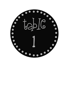 Free Black Circle Label Pack 1 Tables