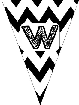 Free Black and White Chevron Welcome Banner