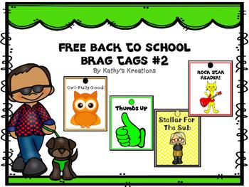 Free Brag Tags Back To School #2