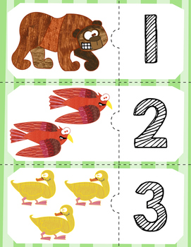 Free | Brown Bear Counting Puzzles