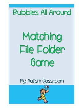 Free Bubbles All Around File Folder Game