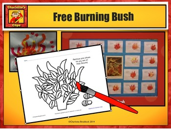 Free Burning Bush Printable from Charlotte's Clips