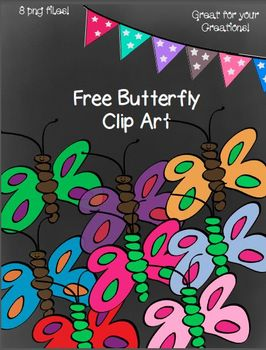 Free Butterfly Doodle Clip Art