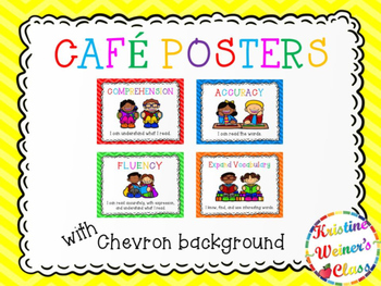 Free CAFE Reading Strategies Headers - Chevron Version