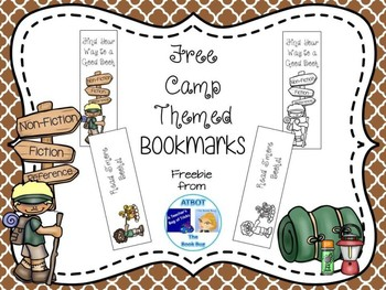 Free Camp Themed Bookmarks