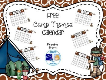Free Camp Themed Calendar