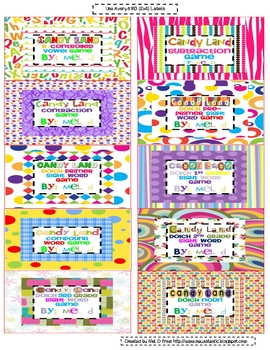 Free Candy Land Organization Labels (#2)