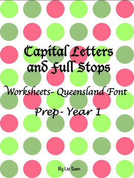 Free Capital Letters and Full Stops (Queensland Font)- Pre