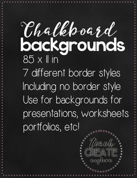 Free Chalkboard Backgrounds!