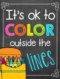 Free Chalkboard Subway Art {Bright and Colorful}