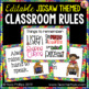 Classroom Rules Posters - Jigsaw Puzzle Theme for Back to School