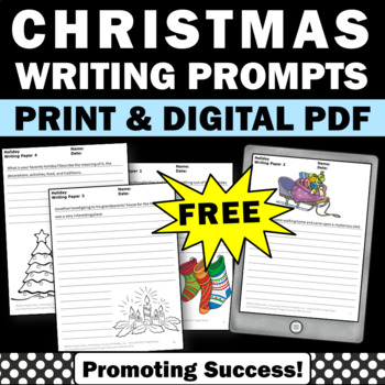 free printable Christmas writing papers