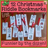 Free Christmas Bookmarks
