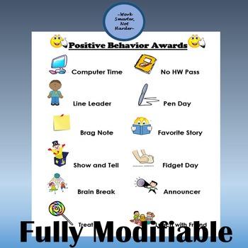 Free Classroom Behavior Reward Chart