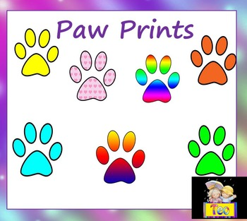 Paw Prints - Clip Art - Personal or Commercial Use
