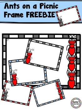 Free Clipart - Ants on a Picnic Frame Freebie
