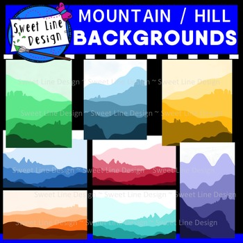 Free - Clipart Mountain / Hill Backgrounds {Sweet Line Design}