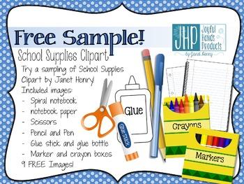 Free Clipart Sample! (School Supplies)