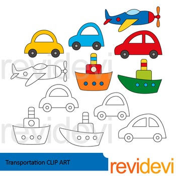 Free Clipart - Transportation - Clip art by Revidevi