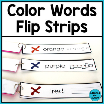 Free Color Words Word Work Task (Special Education)