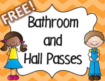 Free Colorful Bathroom and Hall Passes