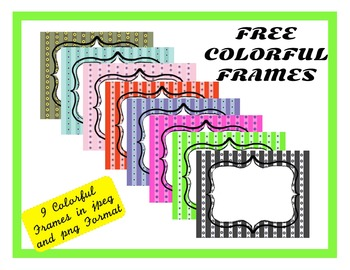 Free Colorful Frames