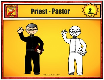 Free Community Helper - Priest - Pastor from Charlotte's Clips