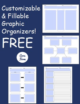 Free Customizable/Fillable Graphic Organizers