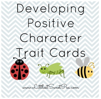 Free Developing Positive Character Trait Cards