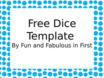 Free Dice Template