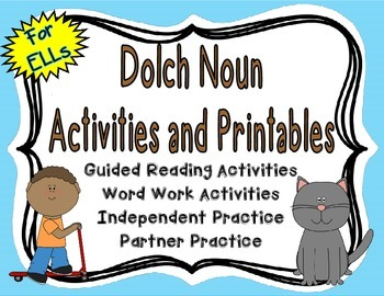{Free} Dolch Noun Activities and Printables for English La