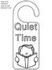 Free Door Hangers Bible Time, Quiet Time