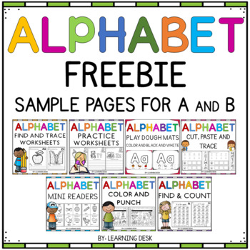 Alphabet Worksheets Freebie (ABC)