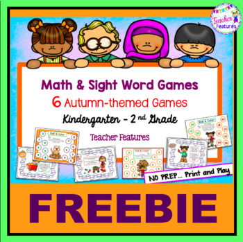 Free Download Autumn Math & Sight Word Games