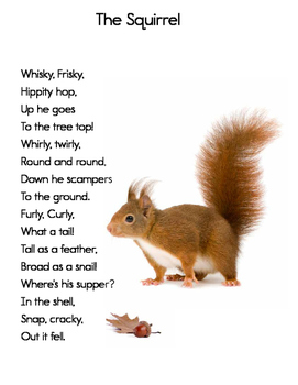 Free Downloadable Poem: The Squirrel