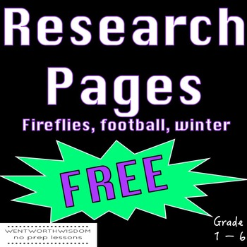 Research Literacy and Writing Activities