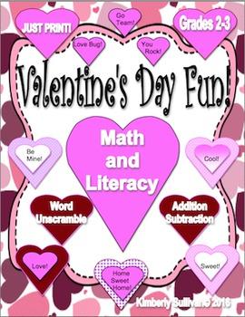 Free Downloads Valentine's Day Math and Literacy! Grades 2