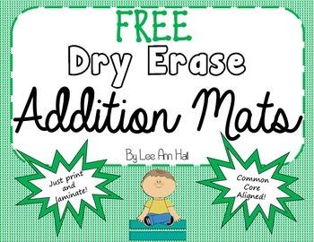 Free Dry Erase Addition Mats